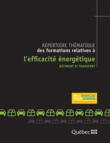 relatives au transport - Efficacité énergétique - Gouvernement du ...