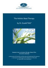 The Holistic Base Therapy by Dr. Ewald Töth® - Licht-Quanten