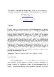 Estudo dos materiais a partir de seus ciclos - CEART - Udesc