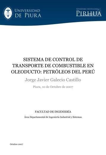 SISTEMA DE CONTROL DE TRANSPORTE DE COMBUSTIBLE EN ...