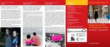 Circolo Cento Fiori eV Neapel und der Film - Filmstadt München
