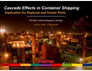 Cascade Effects In Container Shipping Implication For - Portek