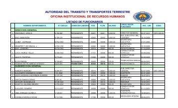 AUTORIDAD DEL TRANSITO Y TRANSPORTES TERRESTRE ...