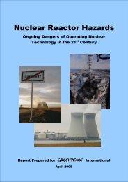 Nuclear Reactor Hazards - Greenpeace
