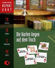 Die Karten liegen auf dem Tisch Die Karten liegen ... - Casinos Austria