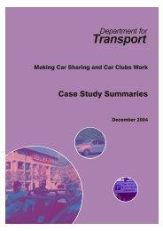 Case Study Summaries - Richard Armitage Transport Consultancy ...