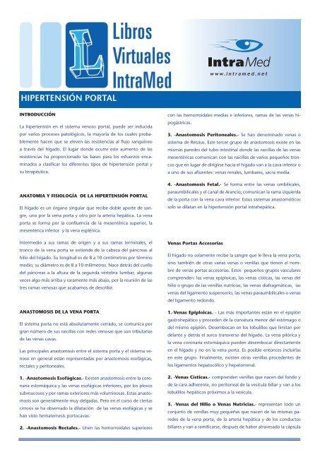 Derivaciones portosistémicas en hipertensión portal y varices esofágicas