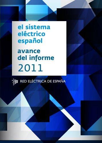 Avance del informe 2011 - Red Eléctrica de España