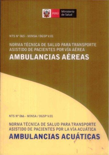 nts nº 066 - minsa / dgsp v.01 norma - BVS Minsa - Ministerio de Salud