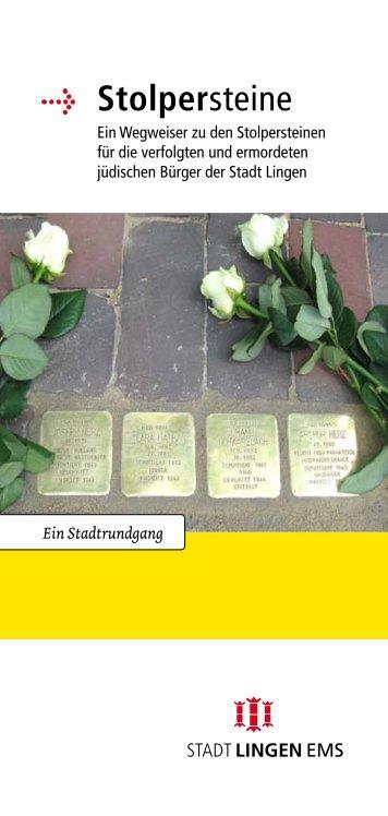 "Flyer ""Stolpersteine"" - Stadt Lingen"