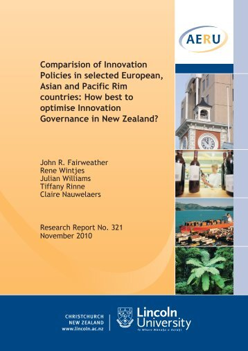 Comparison of innovation policies in selected European, Asian and ...