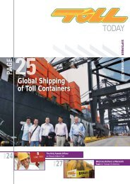 Global Shipping of Toll Containers - TOLL Group