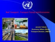 Rail Transport - Transport Trends and Economics - UNECE