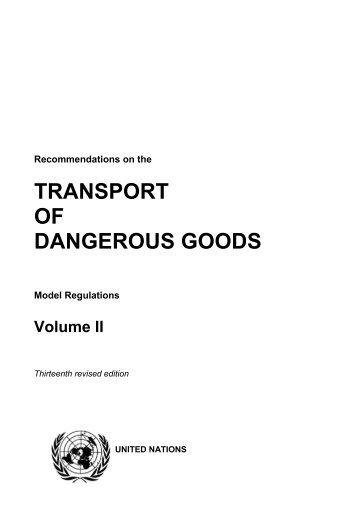 TRANSPORT OF DANGEROUS GOODS - UNECE