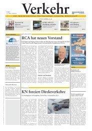 RCA hat neuen Vorstand KN forciert Direktverkehre