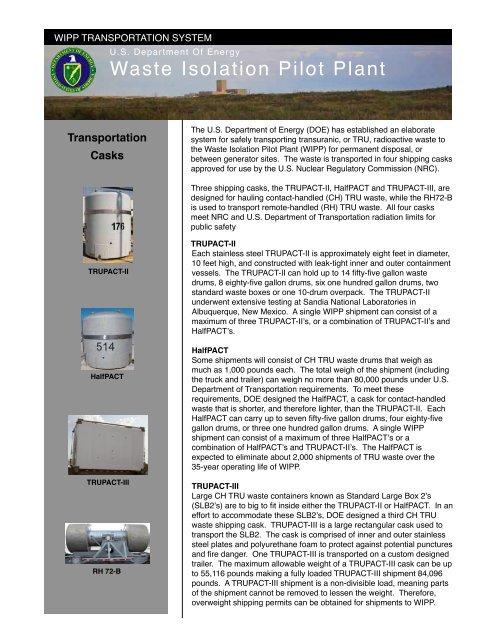 WIPP Transportation System - Waste Isolation Pilot Plant - U.S. ...