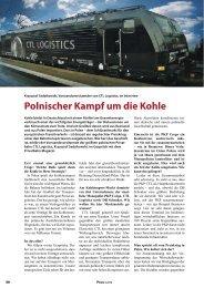 Polnischer Kampf um die Kohle - Privatbahn Magazin