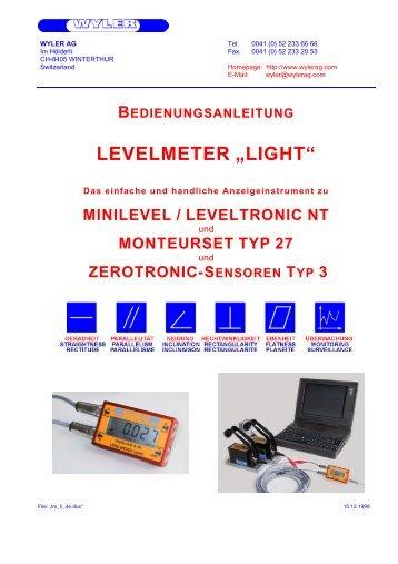 "bedienungsanleitung levelmeter ""light"" - wyler ag"