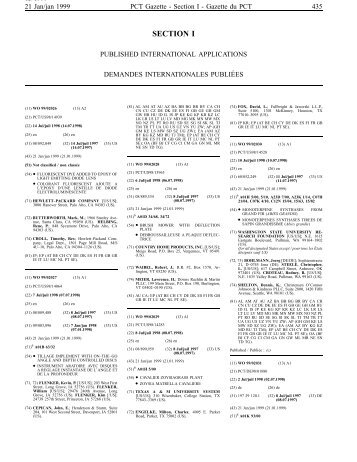 PCT/1999/3 - World Intellectual Property Organization