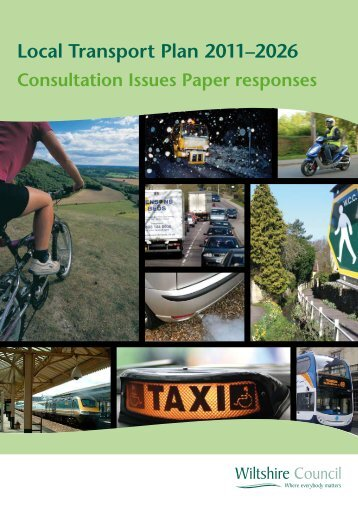 Responses to the LTP3 Consultation Issues ... - Wiltshire Council