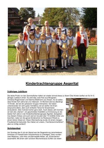 Kindertrachtengruppe Aegerital - Kokj.ch