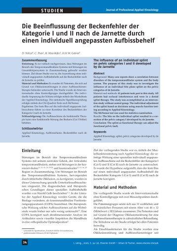 Die Beeinflussung der Beckenfehler der Kategorie I und - Ak ...