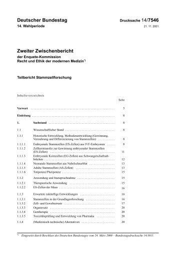 Deutscher Bundestag Zweiter Zwischenbericht - CDU Deutschlands