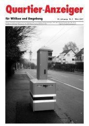 Ausgabe 2, März 2007 - Quartier-Anzeiger Archiv - Quartier ...