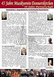 Festschrift 45 Jahre - Musikverein Donnerskirchen