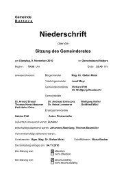 Protokoll vom 9.11.2010 (34 KB) - .PDF - Natters