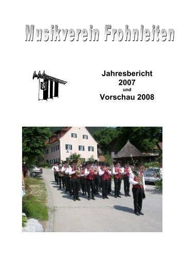 Jahresbericht 2007.pdf - Musikverein Frohnleiten