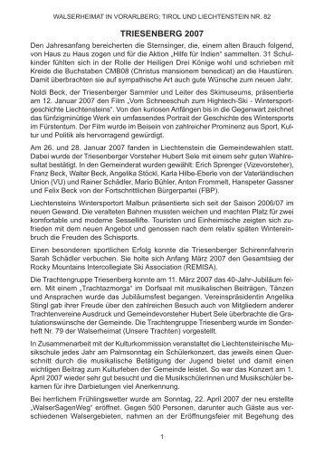Chronik der Gemeinde Triesenberg für das Jahr 2007 - Vorarlberger ...