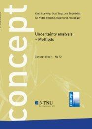 Uncertainty analysis - Methodology - Concept - NTNU