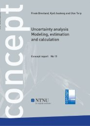 Uncertainty analysis - Modeling, estimation and ... - Concept - NTNU