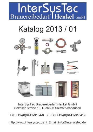 Katalog 2013 / 01 - InterSysTec Brauereibedarf Henkel GmbH