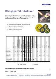 Klingspor Skrubskiver - Metalinas