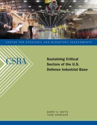Sustaining Critical Sectors of the U.S. Defense Industrial Base