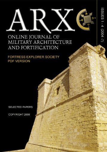 ARX- ONLINE JOURNAL OF MILITARY ARCHITECTURE