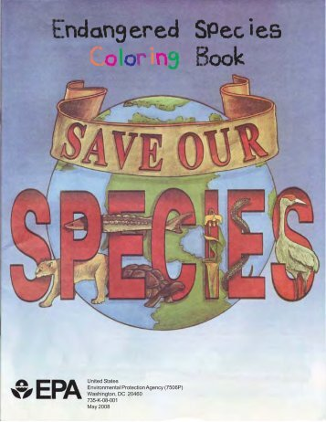 Endangered Species Coloring Book - US Environmental Protection ...