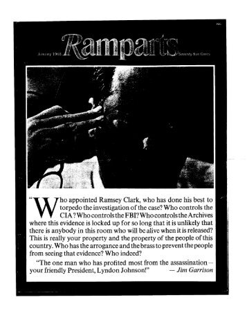 ho appointed Ramsey Clark, who has done his best to torpedo the ...