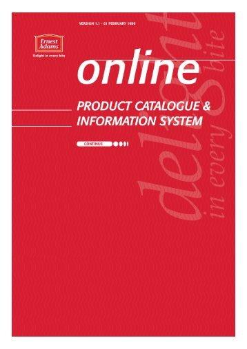 ernest adams product categories - design com
