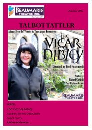 October newsletter - Beaumaris Theatre