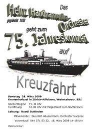 Programm - Heinz Orchester Zürich-Oerlikon