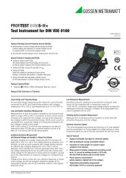 PROFITEST 0100S-II+ Test Instrument for DIN VDE 0100