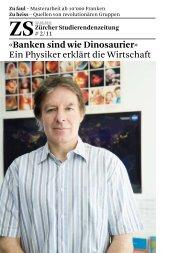 «Banken sind wie Dinosaurier» - ETH Zürich