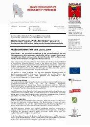 "Mentoring-Projekt ""Profis für Kinder"" gestartet ... - Hellen Promenade"