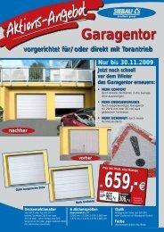 Aktions-Angebot - Garagenprofis.de