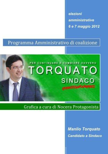 Programma Amministrativo di coalizione - Manlio Torquato.it