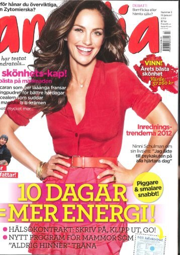Januari 2012 - Amelia (Sverige) - Nu Skin Force for Good Foundation