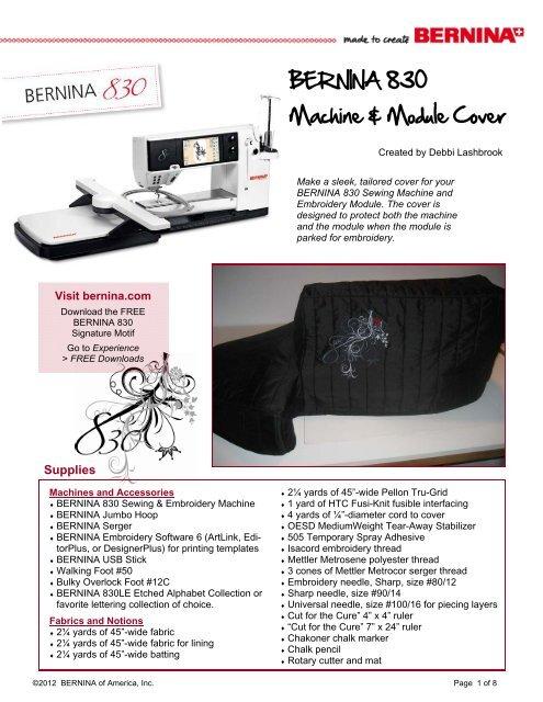 Bernina 830 Machine Module Cover